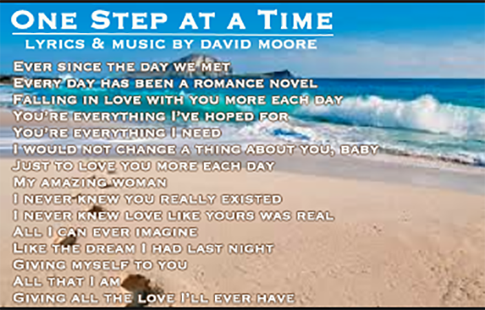 One Step Closer song by David Moore & No More Detours jazz-pop band Tampa Bay New York Chicago LA Nashville
